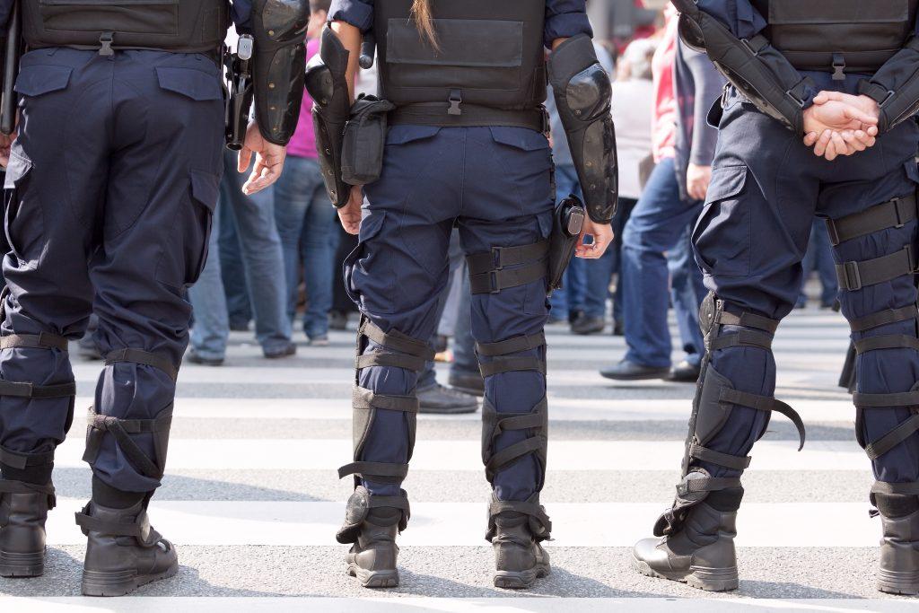 Police on duty. Law enforcement.